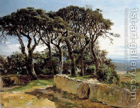 Pinares de San Vicente de la Barquera by Carlos de Haes - Reproduction Oil Painting