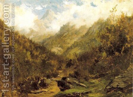 Pirineos franceses by Carlos de Haes - Reproduction Oil Painting
