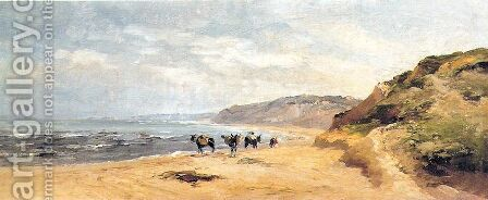 Playa by Carlos de Haes - Reproduction Oil Painting