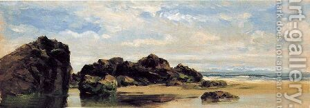 Rocas de Lequeitio by Carlos de Haes - Reproduction Oil Painting