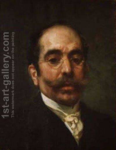 Autorretrato by Antonio Munoz Degrain - Reproduction Oil Painting