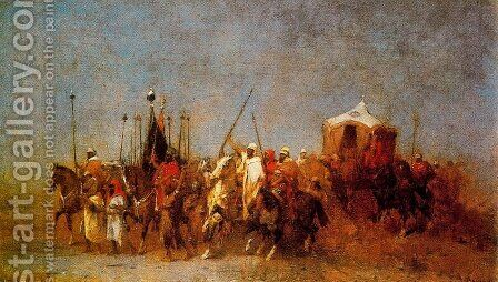 Caravan In The Desert 2 by Alberto Pasini - Reproduction Oil Painting