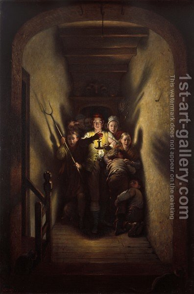 The Night Alarm, the Advance! by Charles West Cope - Reproduction Oil Painting