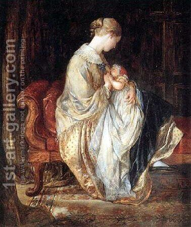The Young Mother by Charles West Cope - Reproduction Oil Painting