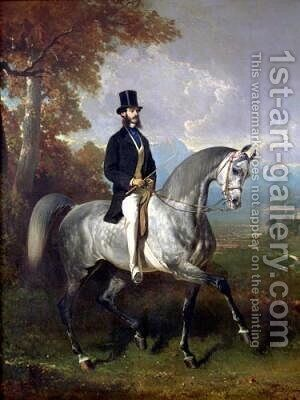Count Alfred de Montgomery 1850 by Alfred Dedreux - Reproduction Oil Painting