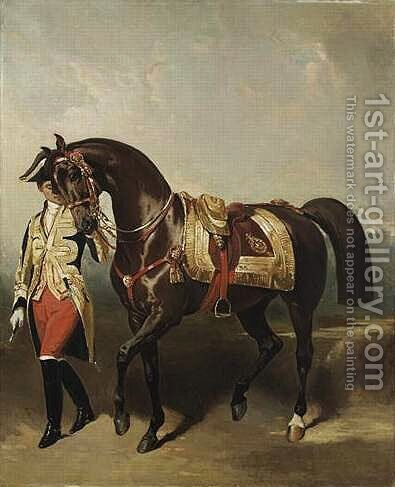 Lisa, jument favorite de Napoléon III by Alfred Dedreux - Reproduction Oil Painting