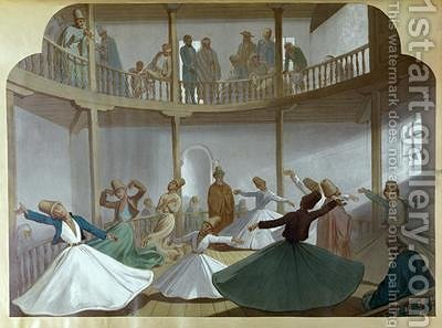 Dance of the Whirling Dervishes by Henri de Montaut - Reproduction Oil Painting