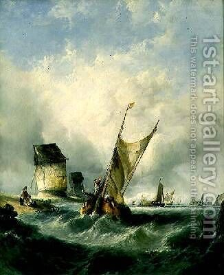 A Breezy Day on the Meuse by Alfred Montague - Reproduction Oil Painting