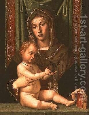 Madonna and Child by Bartolomeo Montagna - Reproduction Oil Painting