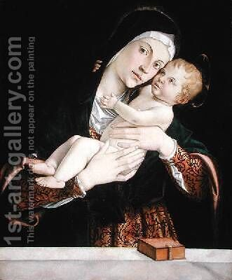 The Virgin and Child by Bartolomeo Montagna - Reproduction Oil Painting
