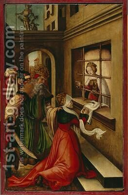 The Roman Empress Faustina Visiting St Catherine of Alexandria in Prison 1514 by H.G. Monogrammist - Reproduction Oil Painting