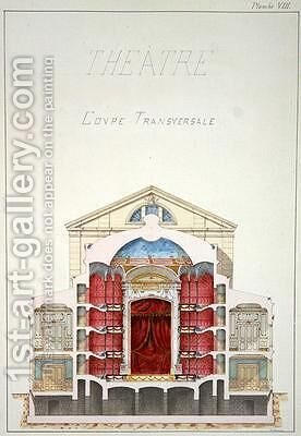 Cross Section of a Theatre by H. Monnot - Reproduction Oil Painting