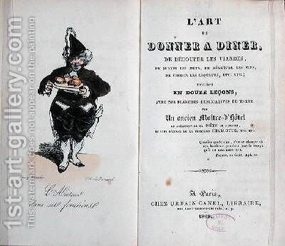 Frontispiece of the book LArt de Donner A Diner by Henri Bonaventure Monnier - Reproduction Oil Painting
