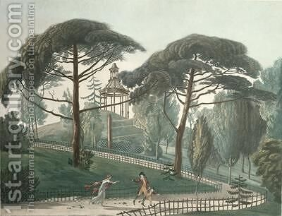 The Maze or Belvedere of the Jardin des Plantes in Paris by Antoine Pierre Mongin - Reproduction Oil Painting