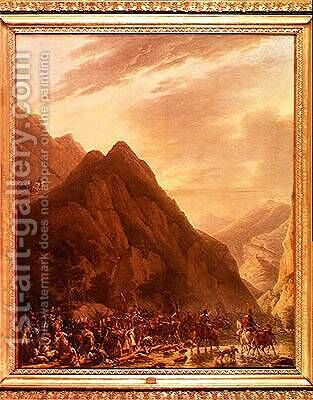 Passage of Mount Albaredo by Antoine Pierre Mongin - Reproduction Oil Painting