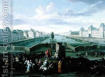 View from the Pont Neuf Paris 1668 by Hendrik Mommers - Reproduction Oil Painting