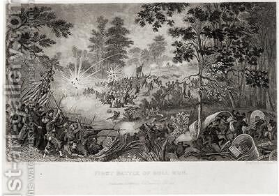 The First Battle of Bull Run 21st July 1861 by (after) Momberger, William - Reproduction Oil Painting