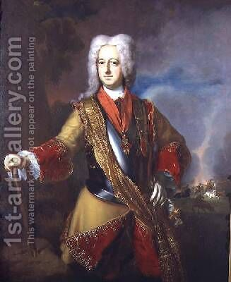 The Marquis de Galles 1726 by Andreas Moller - Reproduction Oil Painting