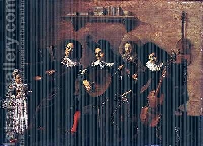The Concert by Jan Miense Molenaer - Reproduction Oil Painting