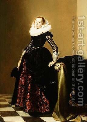 Portrait of a Lady by Jan Miense Molenaer - Reproduction Oil Painting