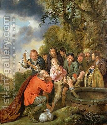 Joseph Being Cast into the Well by his Brothers by Jan Miense Molenaer - Reproduction Oil Painting