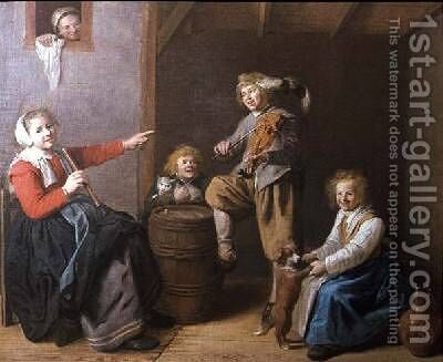 The Musical Party by Jan Miense Molenaer - Reproduction Oil Painting