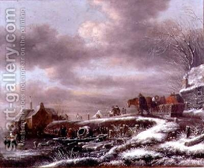 Winter Landscape 2 by Claes Molenaar (see Molenaer) - Reproduction Oil Painting