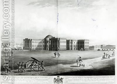 South East View of the New Government House Calcutta by (after) Moffat, James - Reproduction Oil Painting
