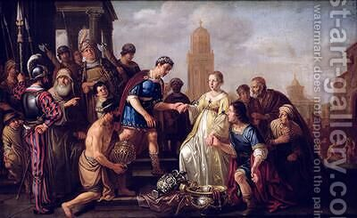 The Continence of Scipio by Claes Cornelisz Moeyaert - Reproduction Oil Painting