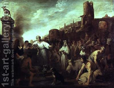Worship of the Golden Calf 1641 by Claes Cornelisz Moeyaert - Reproduction Oil Painting