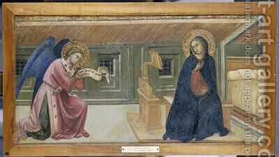 The Annunciation by Barnaba Da Modena - Reproduction Oil Painting