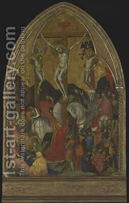 Crucifixion 1375 by Barnaba Da Modena - Reproduction Oil Painting