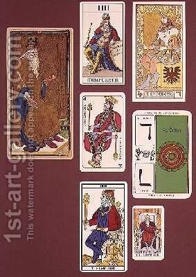 IIII The Emperor seven tarot cards from different packs by (attr.to) Minchin, William - Reproduction Oil Painting
