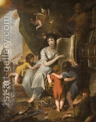 Allegory of Wisdom and Science 1798 by James Millar - Reproduction Oil Painting