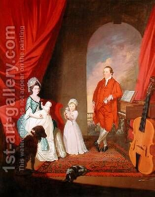 Family Group 1774-80 by James Millar - Reproduction Oil Painting