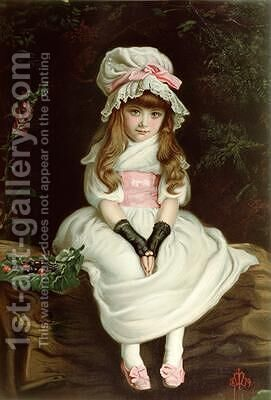 Cherry Ripe 1879 by (after) Millais, Sir John Everett - Reproduction Oil Painting