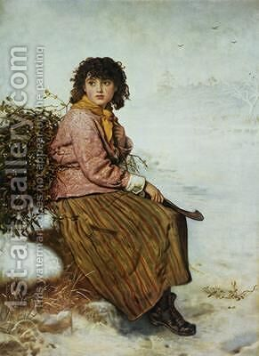 The Mistletoe Gatherer 1894 by (after) Millais, Sir John Everett - Reproduction Oil Painting