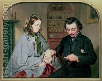 The Doctor 1860 by Arthur Miles - Reproduction Oil Painting