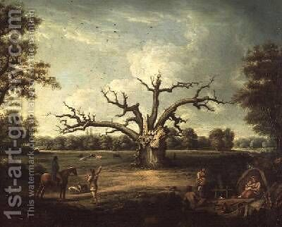 The Fairlop Oak Hainault Forest 1816 by Henry Milbourne - Reproduction Oil Painting