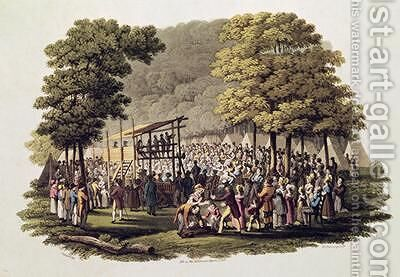 Camp Meeting of the Methodists in North America 2 by (after) Milbert, Jacques - Reproduction Oil Painting