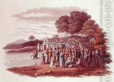 Anabaptist ceremony in North America by (after) Milbert, Jacques - Reproduction Oil Painting