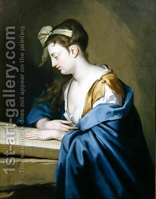 Lady Reading by Heroman Van Der Mijn - Reproduction Oil Painting