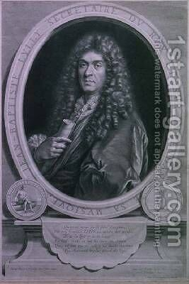 Portrait of Jean Baptiste Lully 1632-87 French composer and operatic director engraved by Jean Louis Roullet 1645-99 by (after) Mignard, Paul - Reproduction Oil Painting