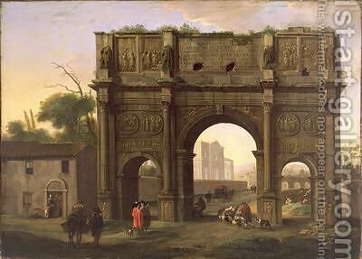 The Arch of Constantine Rome 1640s by Jan Miel - Reproduction Oil Painting