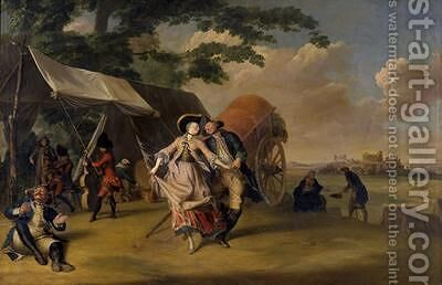 Dance in a Camp 1765 by Jakob Michel - Reproduction Oil Painting