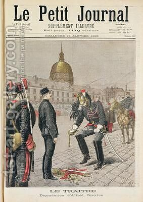 The Traitor The Degradation of Alfred Dreyfus 1859-1935 cover of Le Petit Journal 13 January 1895 by Henri Meyer - Reproduction Oil Painting