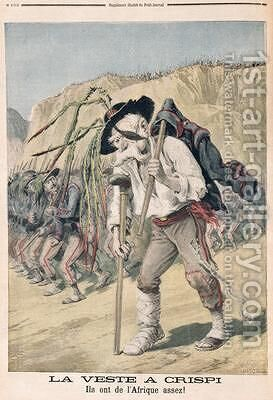 Crispis Defeat caricature from le Petit Journal 1896 by Henri Meyer - Reproduction Oil Painting