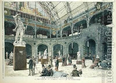 The New Sculpture Pavilion at the Palais de lIndustrie from Le Petit Journal 21st May 1892 by Henri Meyer - Reproduction Oil Painting