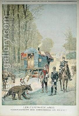 Census of Travellers in France from Le Petit Journal 5th May 1895 by Henri Meyer - Reproduction Oil Painting