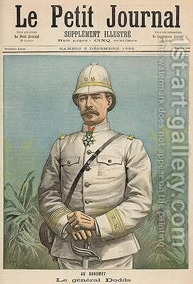 General Alfred Amedee Dodds 1842-1922 in Dahomey from Le Petit Journal 3rd December 1892 by Henri Meyer - Reproduction Oil Painting